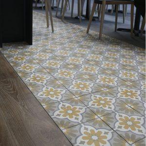 Encaustic Cement Tile Grey Gold
